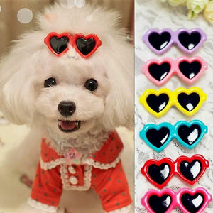 """FREE"" Dog Hair Bows Heart Glasses ( Just Pay Shipping )"