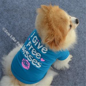 """FREE"" Kisses Shirt For Dogs"