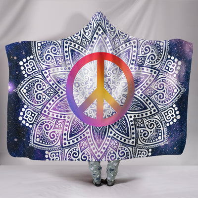 Mandala Peace Hooded Blanket