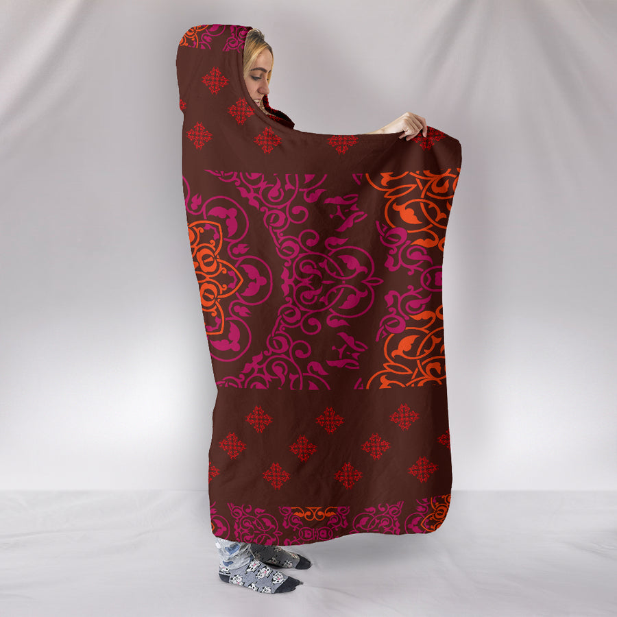 Indian Mandala Hooded Blanket