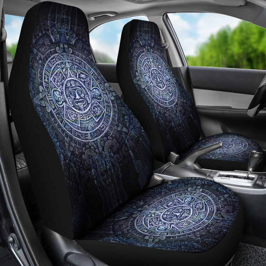 Aztec Symbol Blue Car Seat Covers