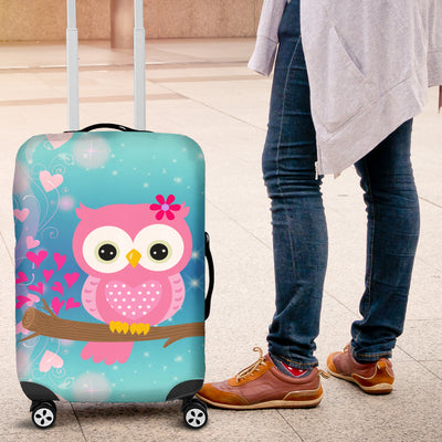 Hoot Hoot Owl Luggage Protective Cover