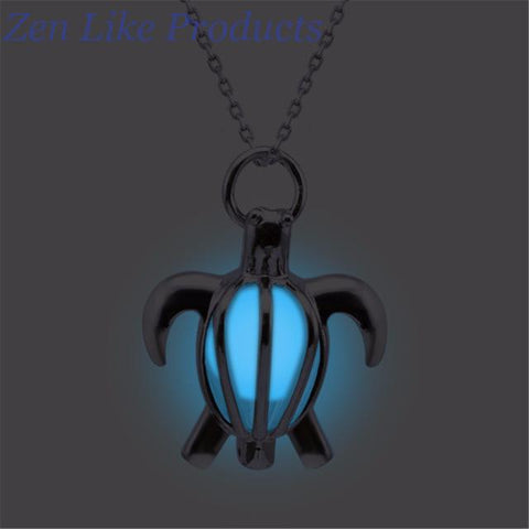 Glowing Turtle Necklace