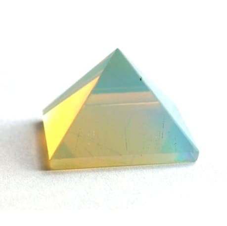 Healing Crystals - REIKI ENERGY CHARGED OPALITE PYRAMID CRYSTAL NATURAL POSITIVE CRYSTAL HEALING