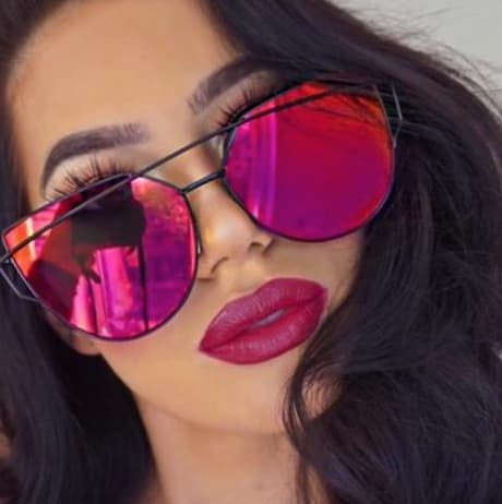 HUGE SALE - New Large Cat Eye Fashion Mirror Sunglasses ( Perfect For Those Bright Sunny Days )