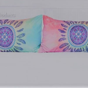 Mandala Pink and Blue Feather