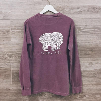 Long Sleeve Casual Sweateshirt Elephant Pattern