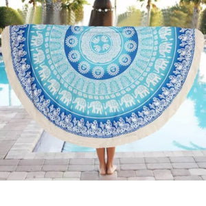 Mandala Beach Blanket - Mandala Beach/Yoga Blanket