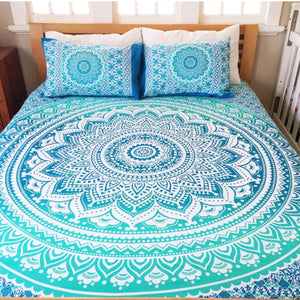 Mandala Beach Blanket - Mandala  Bed Cover (Deep Blue)
