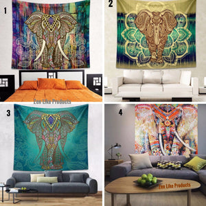 Mandala Beach Blanket - Mandala Elephant Blanket - Now 7 Beautiful Designs To Choose From!