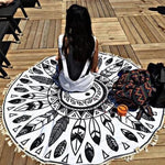 Mandala Beach Blanket - Mandala Yin And Yang Beach Blanket