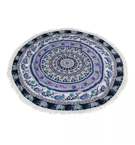 Mandala Beach Blanket - Mandala Yoga/Beach Blanket