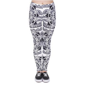 Mandala Black Leggings
