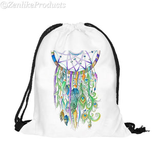 Mandala Dream Catcher Beach Bag