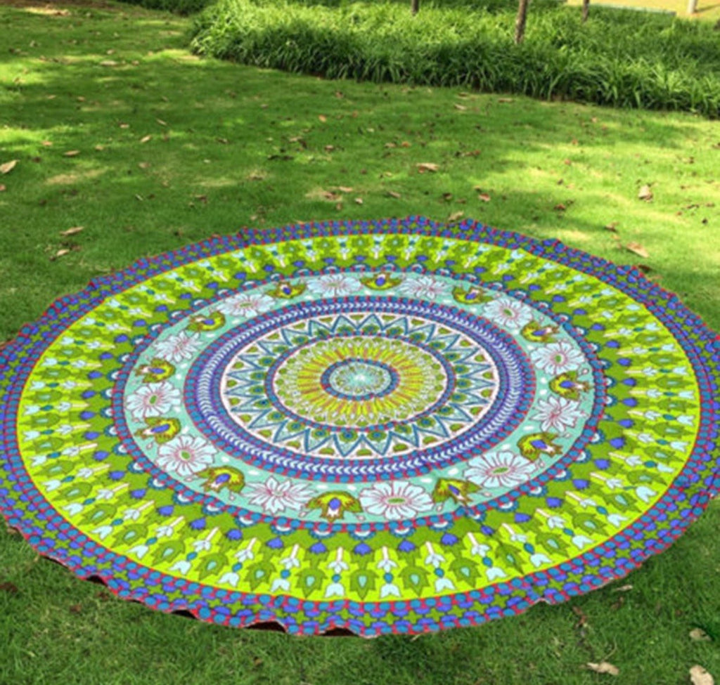 Mat - New Mandala Beach Blanket (Green)