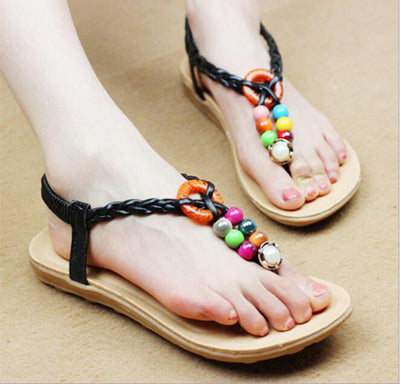 Mulit Colored Beaded Sandals