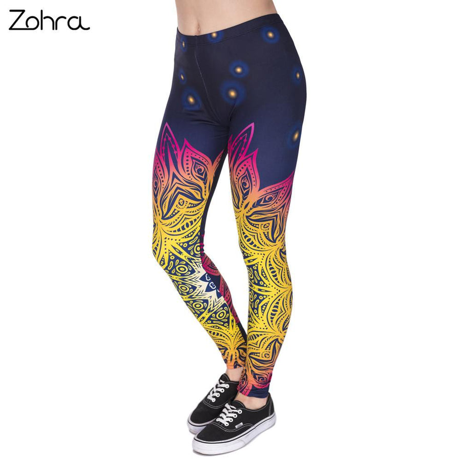 Multi Color Mandala Leggings