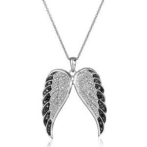 Necklace - Angel's Wings Women Rhinestone Crystal Pendant Necklace