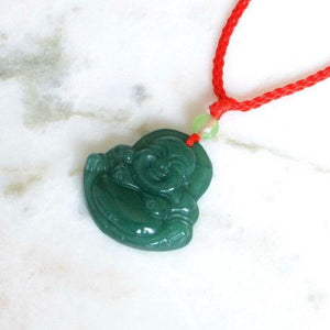 Necklace - Beautiful Buddha Jade Stone Necklace Pendant