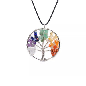 Necklace - FREE - Chakra Crystal Tree Necklace