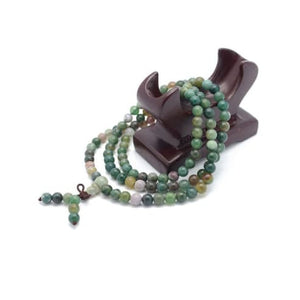 Necklace - India Agate Tibetan Buddhist Beads Mala Bracelet Necklace