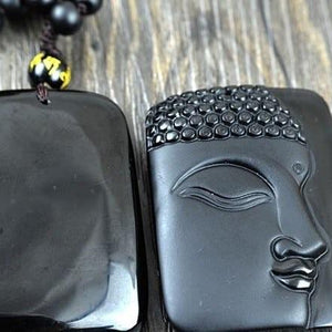 Necklace - Obsidian Buddha Necklace