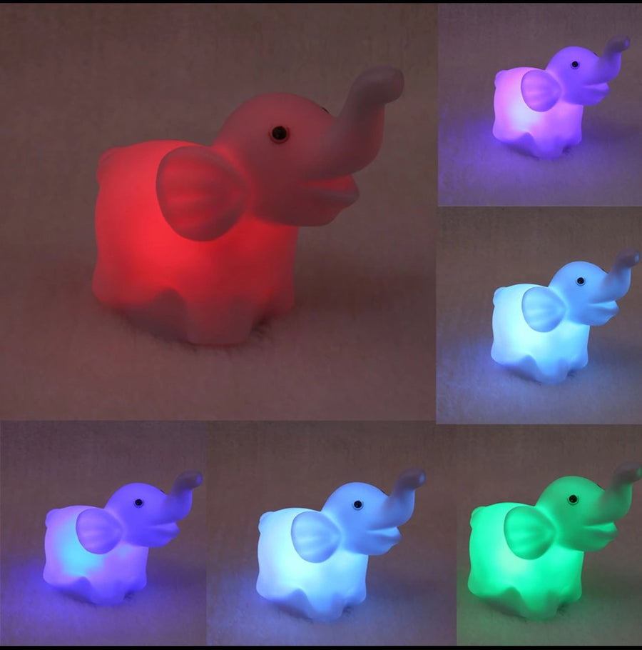 NEW LED Light Up Elephant Night Light