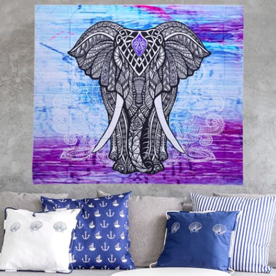 NEW Lucky Elephant Wall Hanging Blanket