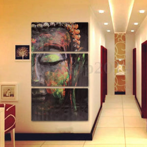 Paintings - 3 Pcs Buddha Oil Painting Wall Art