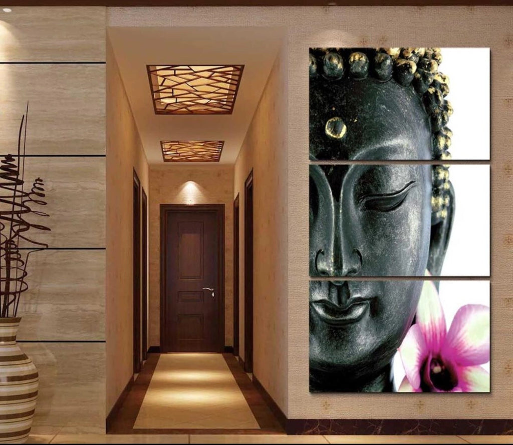 Paintings   New 3 Pcs Buddha Divine Canvas Oil Painting Wall Art