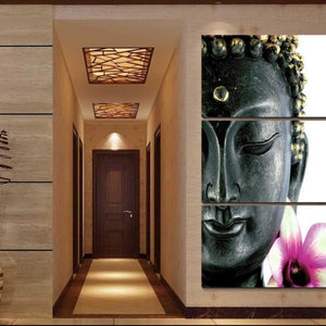 Paintings - New  3 Pcs Buddha Divine Canvas Oil Painting Wall Art
