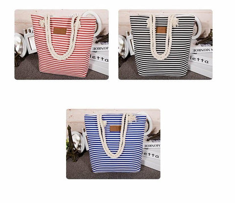 Stripes Beach Bag