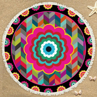 SUMMER FLORAL MANDALA BEACH/YOGA BLANKET