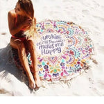 Tapestry - Round Mandala Beach Throw Towel Mat Blanket