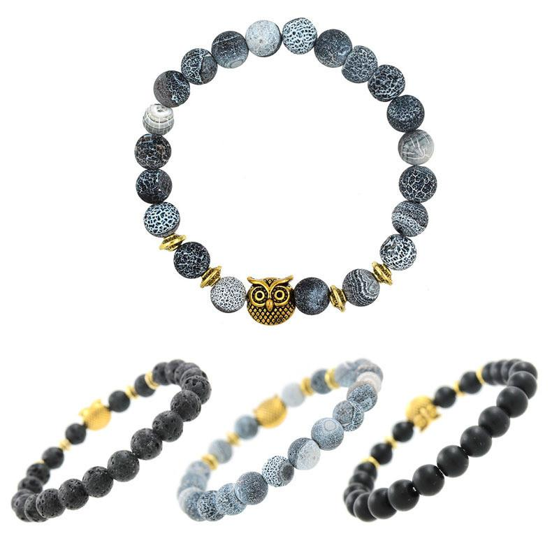 products quality for lava natural rope bracelets elasticity tiger eye buddha collections round stone bead beads high bracelet