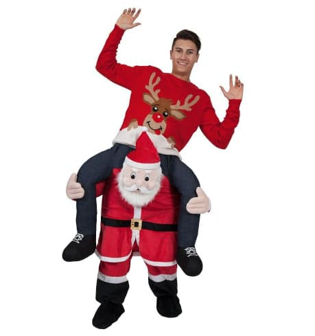 Unisex - Carry Me Back Ride On Xmas Snowman Mascot Fancy Dress Costume Christmas Dress