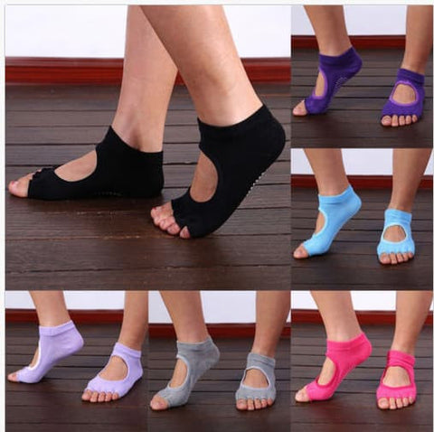 Yoga Products - Non Slip Half Toe Yoga Socks