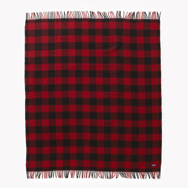 Wool Throw | Buffalo Plaid