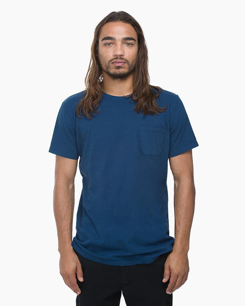 Crew Neck Pocket Tee | Navy