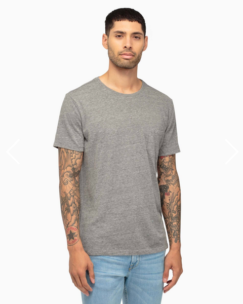 Crew Neck Pocket Tee | Heather Grey