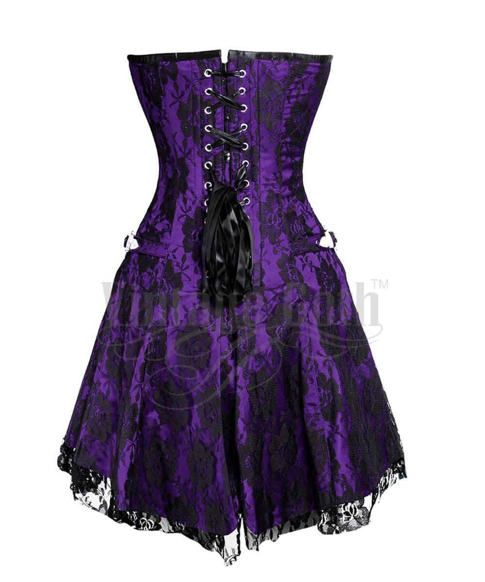 Aengus Gothic Lace Overlay Custom Made Corset Dress