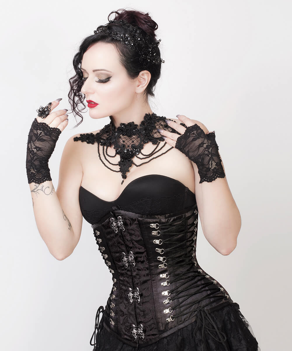 Emma Criss Cross Underbust Gothic Custom Made Corset
