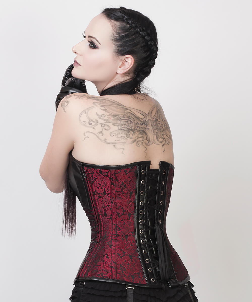 Earnest Gothic Overbust Custom Made Corset with Neck Gear