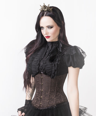 Mady Brown Steampunk Underbust Custom Made Corset