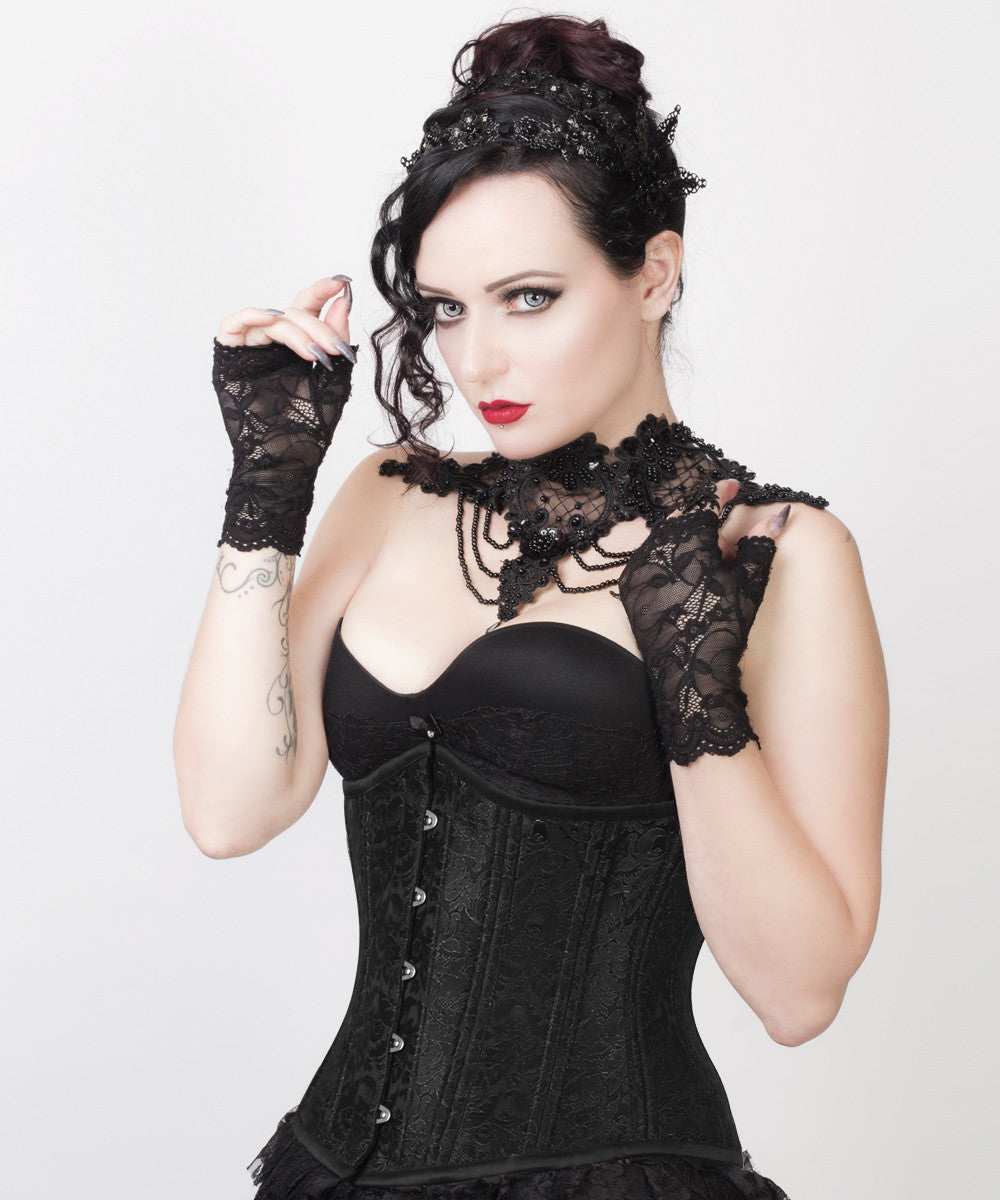 Rosy Black Gothic Waist Training Custom Made Corset