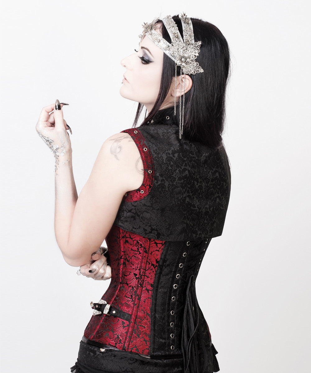 Fotini Steampunk Overbust Custom Made Corset with Shrug