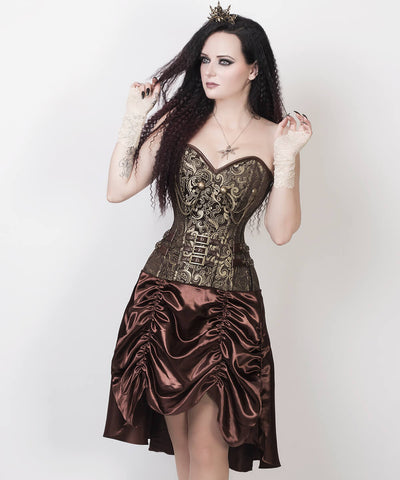 Abhainn Steampunk Gold Custom Made Corset Dress