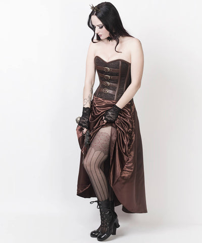 Ciril Overbust Steampunk Custom Made Corset Dress