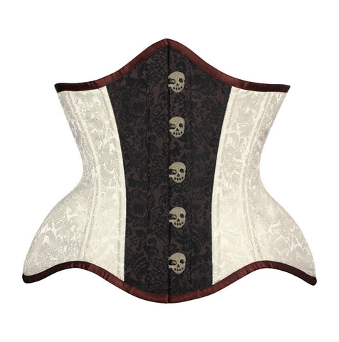 Kamelia New Curvy Waist Training Custom Made Corset with Skull Busk