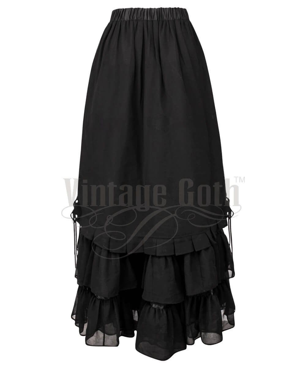 Caelius Black Long Victorian Inspired Custom Made Skirt